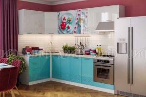 Модульная кухня Волна бирюза - Мебельная фабрика «МиФ»