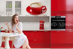 Модульная кухня Волна фотопечать - Мебельная фабрика «МиФ»
