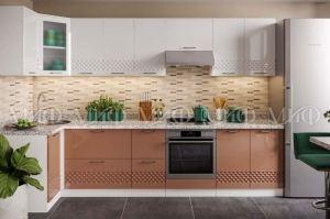 Модульная кухня Волна капучино - Мебельная фабрика «МиФ»