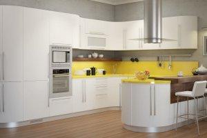 Кухня ЗАРКАНА в пленке Софт белый  - Мебельная фабрика «Молчанов»