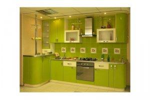Кухня зеленая ДЖЕННА - Изготовление мебели на заказ «КухниДар»