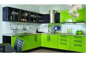 Кухня зеленая Изабель - Мебельная фабрика «ДИЗАЙН МЕБЕЛЬ»