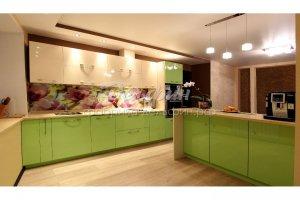 Кухня зеленая с островом - Мебельная фабрика «Дельфин»