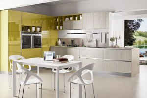 Кухня желтая глянец Агата - Мебельная фабрика «LEVANTEMEBEL»