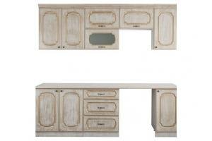 Кухня Золушка 1,8 с патинированием - Мебельная фабрика «Премиум»