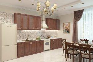Кухонная мебель EVA GOLD Virginia Итальянский орех  - Мебельная фабрика «Грандфаянс»