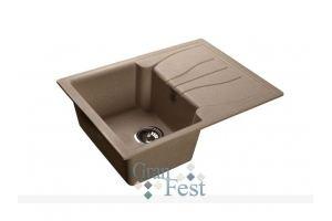 Кухонная мойка квадратная односекционная Арт.2855 - Оптовый поставщик комплектующих «КБК»