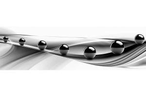Кухонный фартук Черные шары - Оптовый поставщик комплектующих «Центр изделий ПВХ»