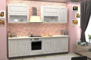 Кухонный гарнитур прямой светлый - Мебельная фабрика «Рестайл»
