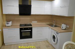 Кухонный гарнитур Белый глянец - Мебельная фабрика «Мебель СТО%»