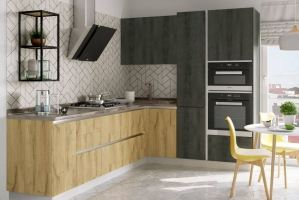 Кухонный гарнитур Сити с алюминиевым профилем - Мебельная фабрика «Эстель»
