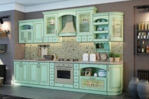 Кухонный гарнитур Сицилия фасады эмаль - Мебельная фабрика «КамиАл»