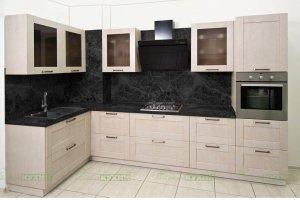 Кухонный гарнитур Фрей из шпона - Мебельная фабрика «Райские Кухни»