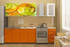 Кухонный гарнитур Киви-апельсин - Мебельная фабрика «Профи»