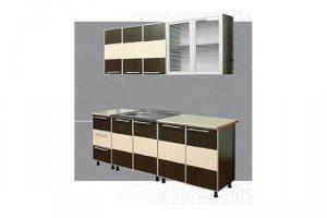 Кухонный гарнитур Комбинация (алюминиевый профиль) - Мебельная фабрика «Татьяна»