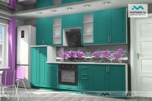 Кухонный гарнитур Ника-1 фасад Фиеста - Мебельная фабрика «МАРИБЕЛЬ»