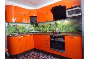 Кухонный гарнитур оранжевый - Мебельная фабрика «700 Кухонь»
