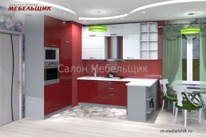 Кухонный гарнитур пластик 58М-16 - Мебельная фабрика «Мебельщик»