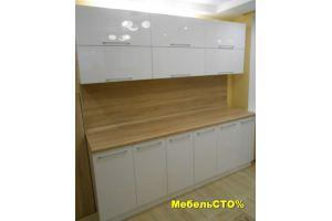 Кухонный гарнитур прямой Белый глянец - Мебельная фабрика «Мебель СТО%»