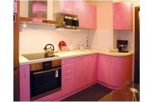Кухонный гарнитур Розовый - Мебельная фабрика «Премьера»