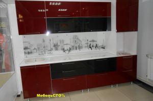 Кухонный гарнитур с фасадом АКРИЛ - Мебельная фабрика «Мебель СТО%»