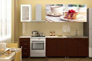 Кухонный гарнитур с фотопечатью Десерт - Мебельная фабрика «Профи»