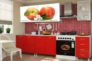 Кухонный гарнитур с фотопечатью Два яблока - Мебельная фабрика «Профи»