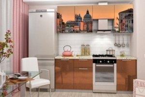 Кухонный гарнитур с фотопечатью Италия - Мебельная фабрика «Профи»