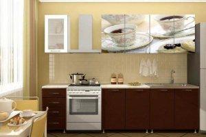 Кухонный гарнитур с фотопечатью Кофе - Мебельная фабрика «Профи»