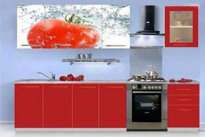 Кухонный гарнитур с фотопечатью Помидор - Мебельная фабрика «Профи»