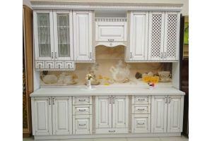 Кухонный гарнитур с нанесением патины золото - Мебельная фабрика «Мебликон»