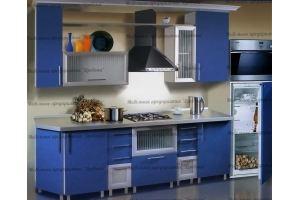 Кухонный гарнитур Синий - Мебельная фабрика «Древека»