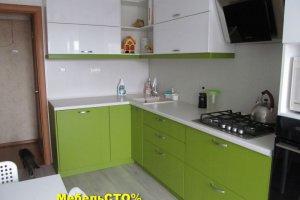 Кухонный гарнитур Зеленый Лайм глянец - Мебельная фабрика «Мебель СТО%»