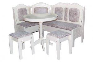 Кухонный набор Лотос уголок, стол и табуреты - Мебельная фабрика «Престиж-Л»