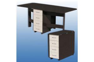Кухонный стол-книжка 3 с ящиками - Мебельная фабрика «Керулен»
