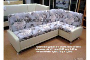 Кухонный угловой спальный уголок Дельфин Селена - М4 - Мебельная фабрика «Домосед»