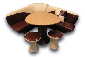 Кухонный уголок Фрегат 2 со столом и табуретами - Мебельная фабрика «Алрус-Арт»