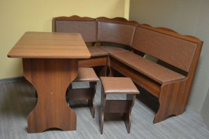 Кухонный уголок Миссия, орех, к/з коричневый - Мебельная фабрика «Миссия»