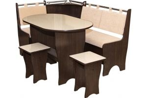 Кухонный уголок со столом и табуретами - Мебельная фабрика «Иванов»