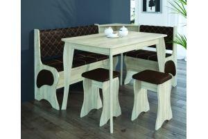 Кухонный уголок угловой ель/старый дуб - Мебельная фабрика «Корвет»