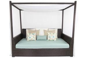 Кушетка-шатер из искусственного ротанга - Мебельная фабрика «АртРотанг»