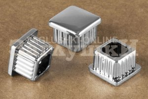 Заглушка квадратная хромированная 15х15 мм Артикул 210320200 - Оптовый поставщик комплектующих «Заглушки»