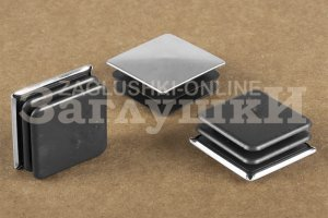 Заглушка квадратная хромированная 30х30 мм Артикул 110324752 - Оптовый поставщик комплектующих «Заглушки»