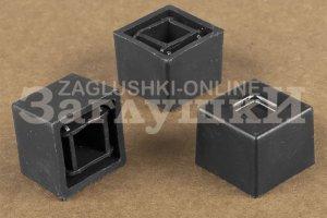 Заглушка квадратная наружная 25х25 мм Артикул 25-25НЧБ - Оптовый поставщик комплектующих «Заглушки»