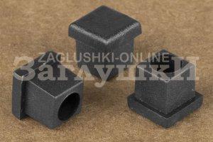 Заглушка квадратная внутренняя 10х10 мм Артикул 10-10ДЧА - Оптовый поставщик комплектующих «Заглушки»