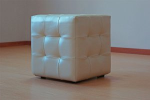Квадратный пуф Соло из экокожи - Мебельная фабрика «Кураж»