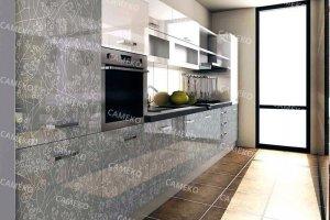 Лаковая кухня прямая - Мебельная фабрика «Самеко»