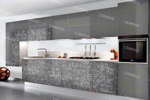 Лаковая серая кухня - Мебельная фабрика «Самеко»