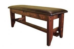 Лавка Русич (кожа) - Мебельная фабрика «Кедр-М»