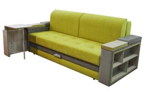 Диван Лидер-25 с раскладным столиком и полками - Мебельная фабрика «Симбирск Лидер»